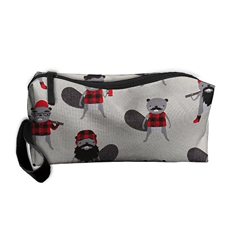 Portable Durable Waterproof Travel Bag Burly Beavers Flannel Collage Iron Home Makeup Toiletry Cosmetic Pencil Medicine Bag - Collage Flannel