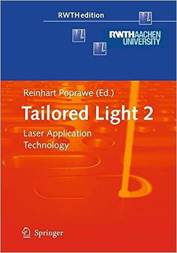 Amazon Com Tailored Light 2 Laser Application Technology Rwthedition 9783642012365 Poprawe Reinhart Books