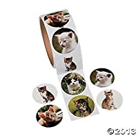 Fun Express Paper Cat Photo Roll of Stickers