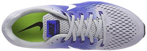 Nike Men's Air Zoom Pegasus 34 (N) Trail Running Shoes Multicolour (Wolf Grey/White/Racer Blue 007) gUiYJe