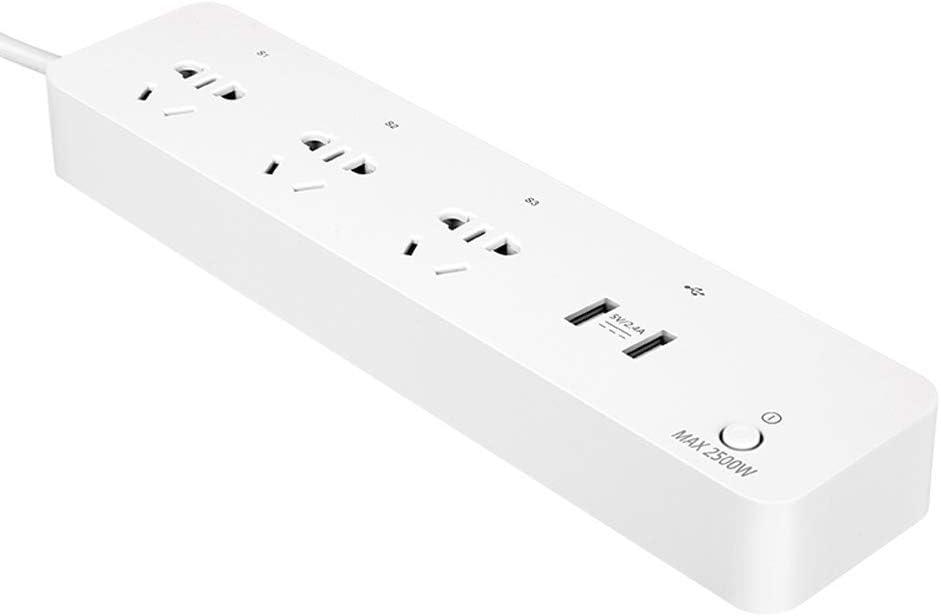 XHHWZB 2.1A Cargador USB 13A WiFi Enchufe de Pared Interruptor Inteligente Enchufe de Salida Compatible con Alexa Echo y Google Assistant IFTTT, no se Requiere concentrador
