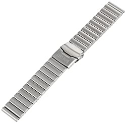 Deep Blue 22DefenderSS 22mm Stainless Steel Silver Watch Bracelet