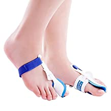 Happy Hours - 1 Pair Comprehensive Big Toe Night Bunion Splint Pads Spacers Protection / Crooked Toes Pain Relief Hallux Valgus Adjuster Straightener Corrector(Free Size)
