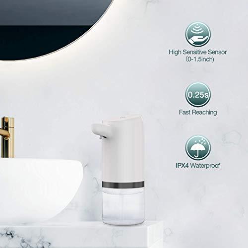 LDesign Soap Dispenser Automatic, Touchless Soap Dispenser, 14oz/400ml USB Rechargeable Foaming Soap Dispenser for Kitchen, Bathroom, Office, Hotel ZYQ-122-A002