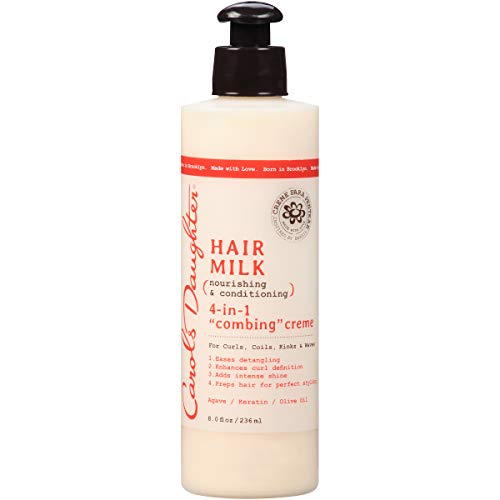 Curly Hair Products by Carol's Daughter, Hair Milk 4-in-1 Combing Creme For Curls, Coils and Waves, with Agave and Olive Oil, Hair Detangler, Curl Cream, 8 fl oz (Packaging May Vary)