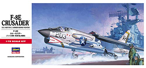 70de04f705d75 Hasegawa 00339 F-8E Crusader, 1/72 Scale C Series US Navy/MC Carrier Borne  Attacker Aircraft Model Kit