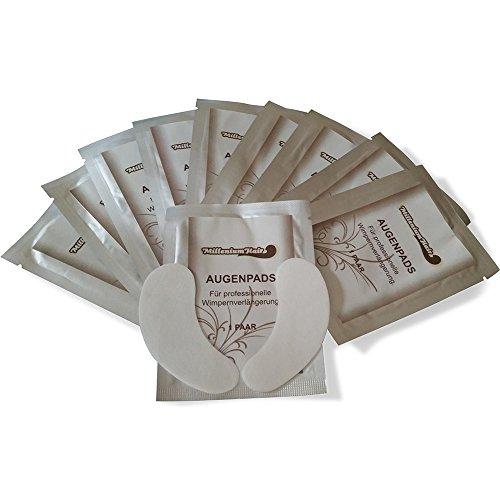 MilleniumHair Augenpads - Eye Pads - 10 x 2 Stück (10 Paar) - fusselfrei - Wimpernverlängerung