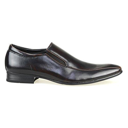 Mm / One Zapatos Casuales Para Hombre Oxford Zapatos Vestido Sheos Lace Up Classic Moderno Negro Marrón Oscuro Chmpt112-4 Marrón Oscuro
