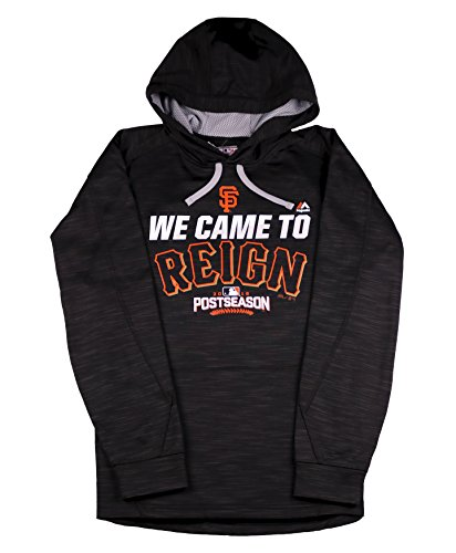 Majestic Men's San Francisco Giants Came to Reign 2016 Post Season Hoodie Large Black
