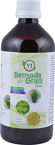 V.J.Herbals Bermuda Grass Juice (Green, 500 Ml) Bermuda Grass Greens