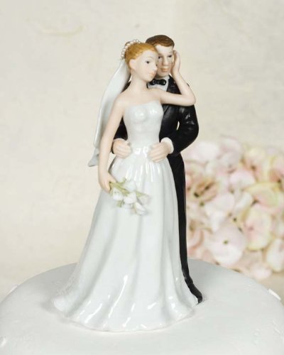 Wedding Collectibles Porcelain Elegant Calla Lily Bride and Groom Cake Wedding (Groom Cake Top)