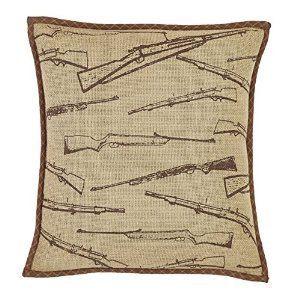 Tallmadge Rifle Pillow Cover 16x16 (Log Cabin Throw Quilt)