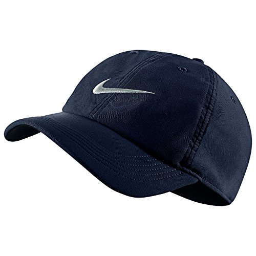 43a25902a18 Galleon - Nike Unisex Aerobill H86 Adjustable Hat Obsidian Blue Platinum  729507-451