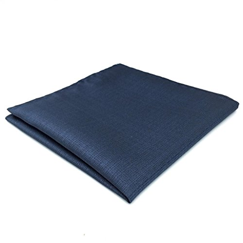 SHLAX&WING Mens Tie Necktie Silk Solid Blue Business for Suit