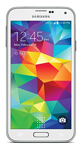 Samsung Galaxy S5 White 16GB (Sprint Prepaid) 1 For use exclusively on Sprint Prepaid network 16 Mega Pixel Camera Built-in heart rate sensor