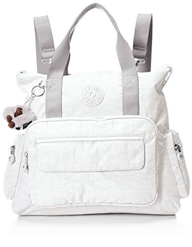 Kipling Women's Alvy 2-in-1 Convertible Tote Bag Backpack, Wear 2 Ways, Zip Closure, Alabaster Tonal