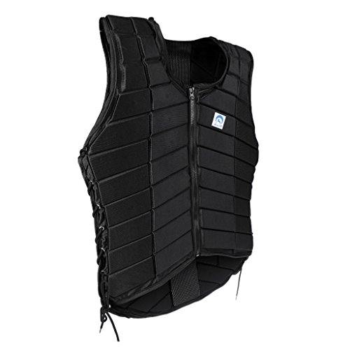 Front Waistcoat - Dovewill Premium Safety EVA Padded Breathable Horse Riding Equestrian Vest Protective Gear Body Protector Guard Shock Absorption Front Zipper Waistcoat - Unisex Kids Adult All Size Available - Women S