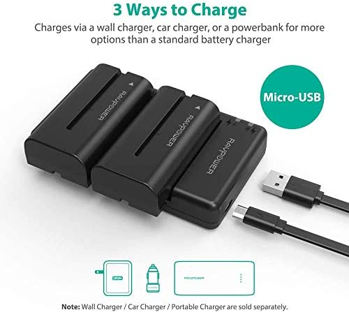 2200mAh Replacement Battery and Charger Kit for Sony Camera Camcorder 2 Pack Comes with 5V//1A Charger and USB Cable, Multi Models LED Video Light Using NP-F550//F570//F530 Batteries HandyCams