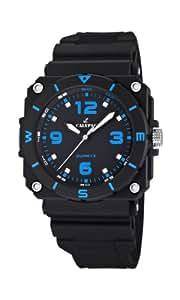 Calypso  watches K5580/3 - Reloj analógico de cuarzo para hombre, correa de goma color negro