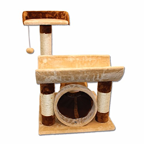 """29"""" Cat Tree Bed Sisal Scratching Post Furniture Playhouse Pet Bed Kitten Cat Tower Condo Stairs for Kittens on sale"""