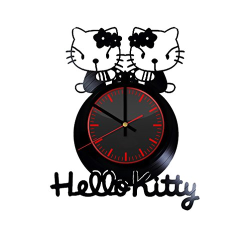 Hello Kitty Art Design Vinyl Record Wall Clock