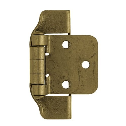 Liberty Hardware H01915C-AE-O 1/2 Inch Steel Stamped Semi-Wrap Overlay Hinge (Set of 2), Antique English ()