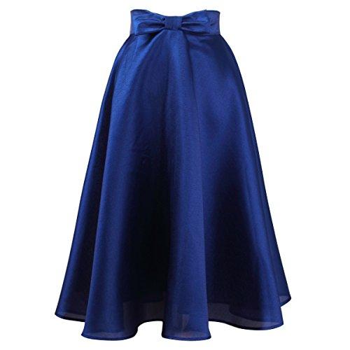 Vintage Rockabilly Abiti ragazza Idgreatim maniche festa Print Blu Swing Senza vestito Floral da XzZtw1