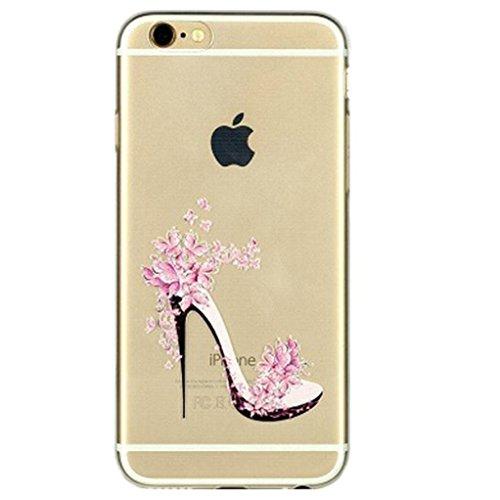 For iphone 7 plus case,Transparente TPU Coque Silicone Case Ultra Slim Premium Soupe Skin de Protection Pare-Chocs Anti-Choc Hülle pour Apple iPhone 7 plus (5.5 pouces)-Talons hauts
