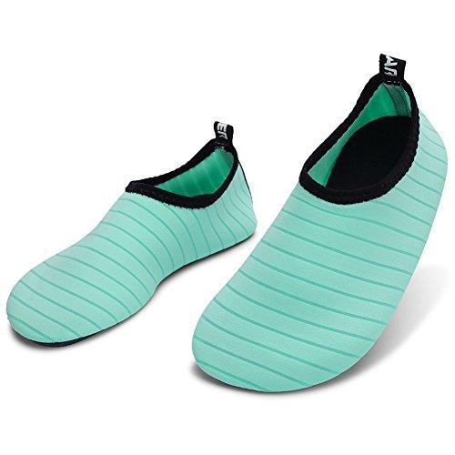 Barerun Barfuß Quick-Dry Wasser Sportschuhe Aqua Socken für Schwimmen Beach Pool Surf Yoga für Frauen Männer Grün