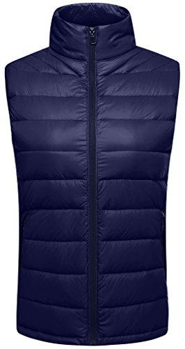 Sport Puffer Vest (Wantdo Women's Packable Lightweight Outdoor Down Puffer Vest, Navy, X-Large)