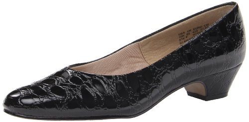 Pump Angel Style Croco Women's Black Soft II qIO08wnE