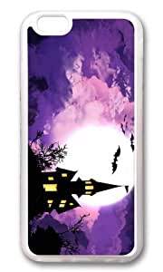MOKSHOP Adorable Halloween Spooky House Soft Case Protective Shell Cell Phone Cover For Apple Iphone 6 Plus (5.5 Inch) - TPU Transparent by Maris's Diary