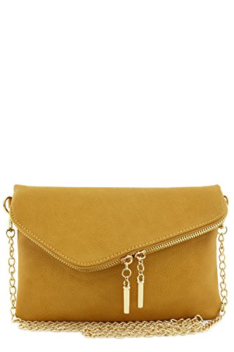 Envelope Wristlet Clutch Crossbody Bag with Chain Strap ()