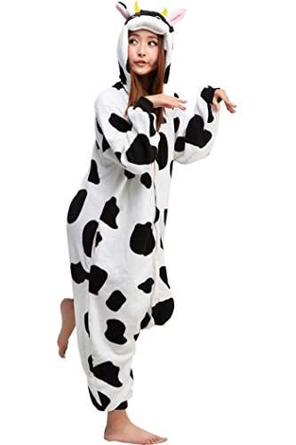 Lifeye Cow Unisex Adult Pajamas Animal Cosplay Costume (Womens Cow Costume)