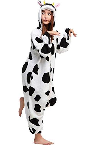 Lifeye Cow Unisex Adult Pajamas Animal Cosplay Costume (Womens Cow Costume)