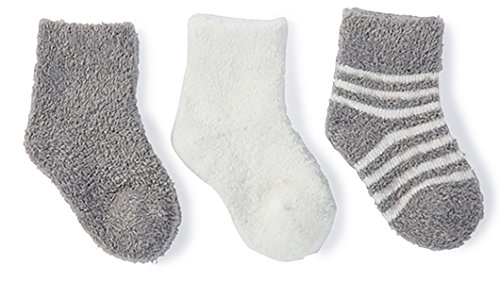 (BAREFOOT DREAMS BAMBOO CHIC LITE INFANT SOCK SET (Pewter-Pearl))
