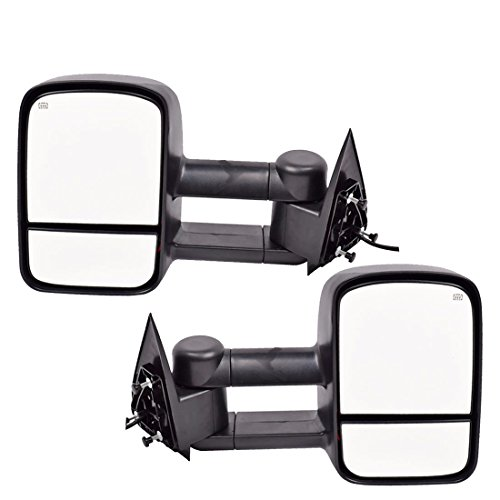 DEDC Towing Mirrors Chevy Silverado 1500 2500 3500 Side View Mirrors for 2003-2006 Chevy Silverado GMC Sierra Power Heated Foldable Pair ()