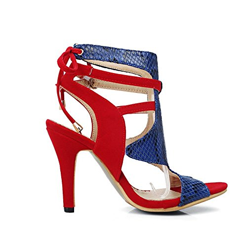 Red Ouvert Rouge BalaMasa Bout EU Femme ASL05546 5 36 rXnXgq1xE