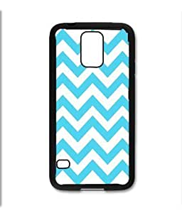 Pink Ladoo? Samsung Galaxy S5 Black Case - Chevron Baby Blue Teal and White