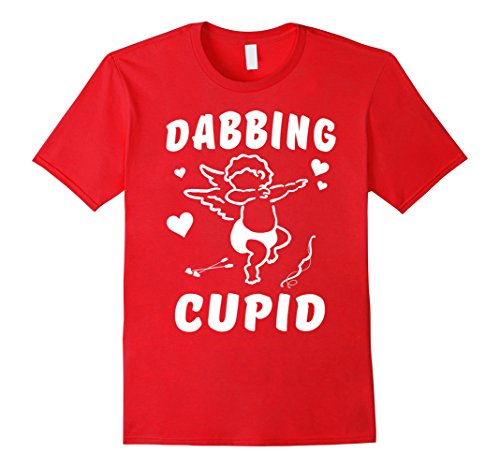 [Men's Funny Dabbing Addiction Cupid T Shirt Small Red] (Male Cupid Costumes)