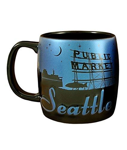Americaware SMSEA03 Seattle 22 oz Night Sky Silhouette Mug