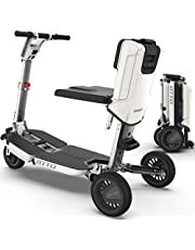 ATTO Travel Foldable Power Electric Mobility Scooter for Adults, Full-Size, Lithium Battery