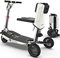ATTO Folding Mobility Scooter by MovingLife, Full-Size Portable Electric Scooter for Adults, Lightweight Lithium...