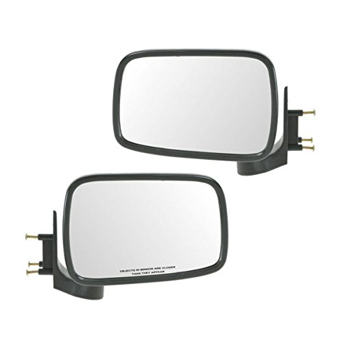 Chrome Manual Side Mirrors Left & Right Pair Set for 86-93 Mazda Pickup Truck