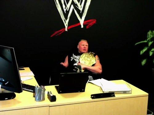 Steel Cage Match Triple H Vs. Brock Lesnar