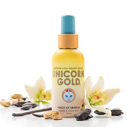 4 FL OZ. Squatty Potty Unicorn Gold Toilet Spray, Pinch Of Vanilla