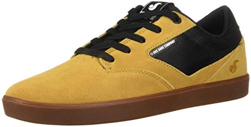 DVS Men's Pressure SC+ Skate Shoe, Chamois Black Suede Chico, 9 Medium US