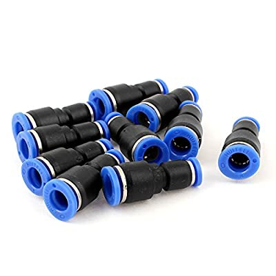 8mm to 4mm Tube OD Straight Push In Pneumatic Quick Fittings 10pcs