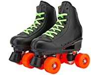BWOLF High-top Roller Skates for Adults Teens Youth Kids PU Leather Roller Skates Double Row Wheels Roller Ska