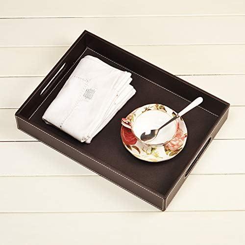 皮革水杯茶具托盘茶盘 长方形茶杯酒店用品宾馆样板房北欧家用